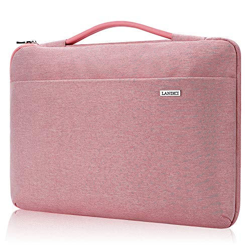 Landici Laptop Case Sleeve 11 11.6 12 Inch with Handle, 360°Protective Computer Cover Bag Compatible with MacBook Air 11, Surface Pro 7/6, Surface Pro go, Acer Hp ASUS Chromebook, 12.5' Tablet-Pink