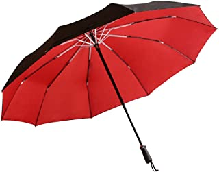 Bajolg Portable Folding Compact Umbrella,Reinforced Parasol Travel Umbrella Windproof,Mens and Womens Unisex,C