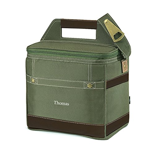 Personalized Khaki 12-Pack Cooler Tote