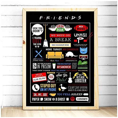 póster friends de la marca CYYCY