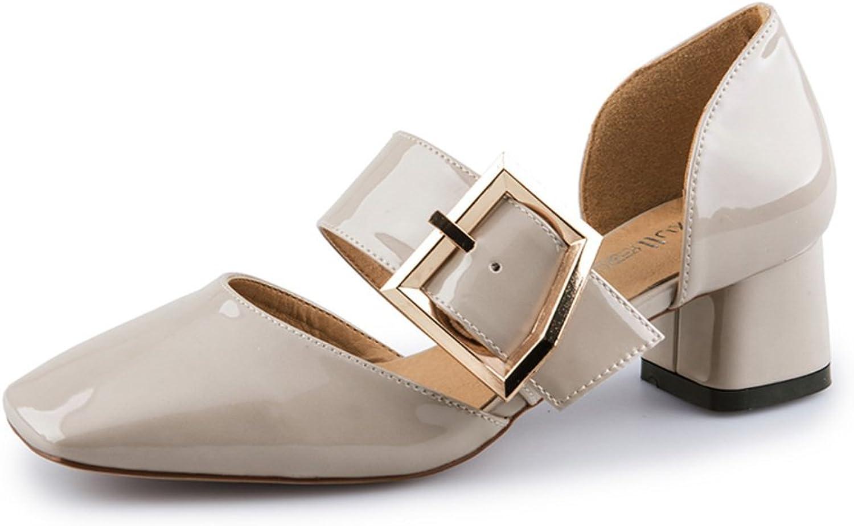 Sommer Einfach,Retro,Square Head Schuhe Chunky Heel Sandalen    Qualität und Verbraucher an erster Stelle