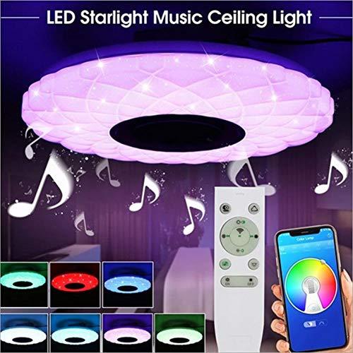 Moderni Light Led van Musica Bluetooth plafondlamp met bluetooth-speaker, met RGB Che transmissie, dubbele bediening: app + afstandsbediening