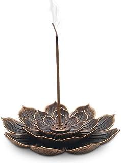 TMINCK Brass Incense Holder – Lotus Stick Incense Burner and Cone Incense Holder..