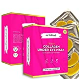 30 Pairs, Collagen Moisturizing and Treatment, Under Eye 24K Gold Patches, Undereye for Puffy Eyes, Wrinkles, Eye Bags, Dark Circles and Anti-Aging