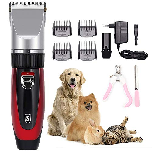 AKL Dog Grooming Clippers, Cordless Dog Grooming Clippers Low Noise,Quiet Rechargeable Pet Hair Trimmer,Professional Dog Grooming Kit, Best Shaver for Dogs Cats Pets