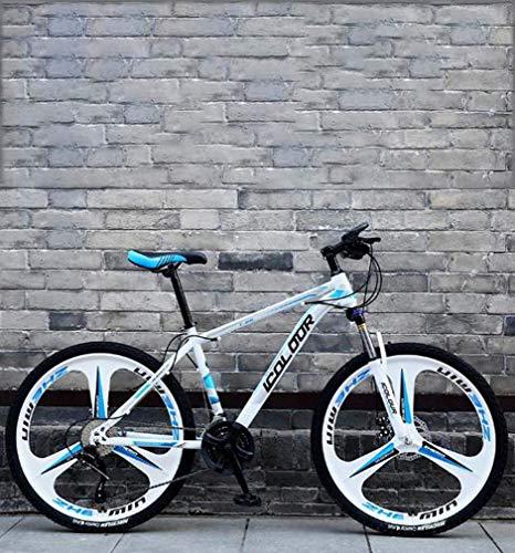 ZTBXQ Fitness Sports en Plein air 26 Pouces VTT Double Frein à Disque Trek Bike Cadre en Alliage d'aluminium/Roues Plage motoneige vélo Blanc 24 Vitesses