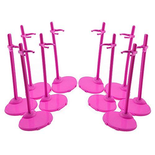 Supporto Stand per Bambole Barbie Collezione da Vetrina Stile Modella Rose