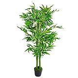 Leaf Design UK - Plantas Artificiales de bambú para árboles de tamaño XL, 120 cm