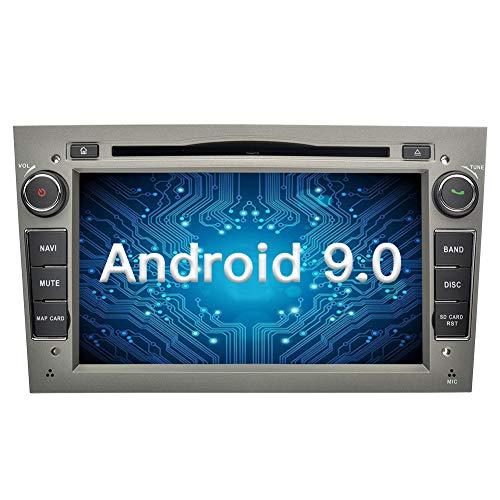 Ohok 7 Zoll Bildschirm 2 Din Autoradio Android 9.0 Pie Octa Core Radio mit Navi Moniceiver DVD GPS Navigation Unterstützt Bluetooth WLAN DAB+ OBD2 für OPEL Grau