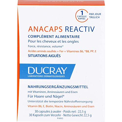 DUCRAY Anacaps Reactiv Kapseln für Haare und Nägel, 30 St. Kapseln