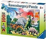 Ravensburger Kinderpuzzle 10957 - Unter Dinosauriern - 100 Teile
