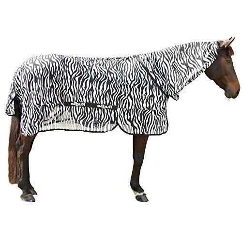 Kerbl 326125 Zebra - Manta antimoscas (Incluye Cuello), diseño de Cebra