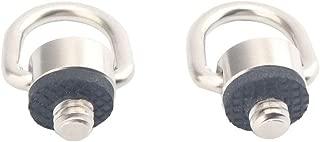 AORO 1/4-20 Dリングネジ ステンレス 三脚とカメラなどに対応するネジ (2PCS)