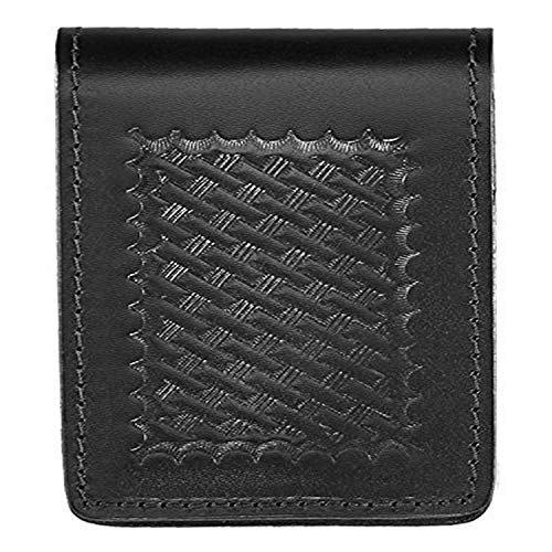 """Aker Leather 582 3"""" X 5"""" Notebook Cover, Black, Basketweave"""