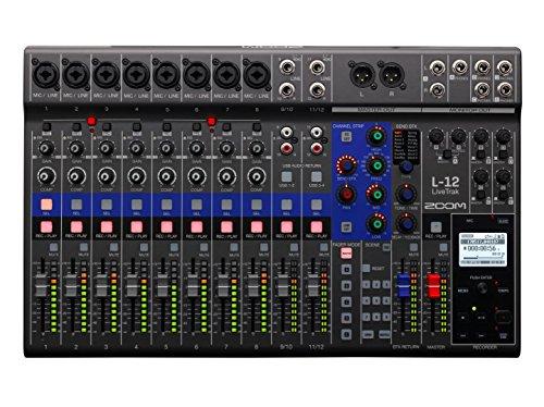 Zoom L12 livetrak Live Sound Plus Grabación