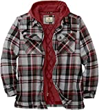 Legendary Whitetails Men's Maplewood Hooded Shirt Jacket, Windstorm Plaid, XX-Large