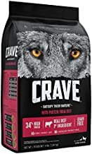CRAVE Grain Free with Protein from Beef Dry Adult Dog Food, 4 Pound Bag