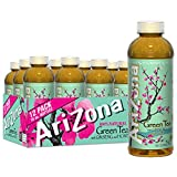 Arizona Green Tea with Ginseng and Honey, 16 Fl Oz (Pack of 12)