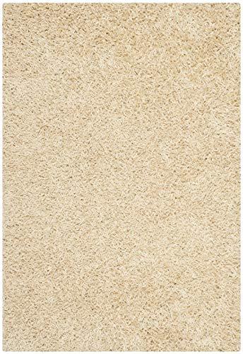 Safavieh Shag & Flokati Teppich–Monterey Shag Polyester Flor–Creme Creme/Shag & Flokati/4'L x 2' 15,2cm W/Accent