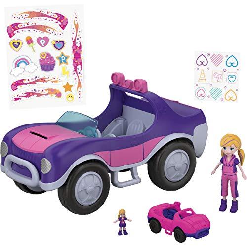 Polly Pocket FWY26 - Großes Geländefahrzeug mit Puppen und kleinem Fahrzeug, Puppen Spiezeug ab 4 Jahren