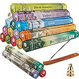 Amzeeniu Juego de Varillas de Incienso 360 Varitas de Incienso,18 Cajas Incienso Set para...