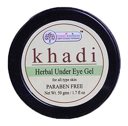 Glamorous Hub Khadi Rishikesh Herbal Debajo De Los Ojos Gel 50G Paquete (El Embalaje Puede Variar)