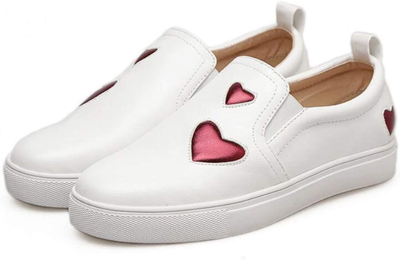 Frauen Frauen Loafers Damen PU Turnschuhe Frühling Sommer Lace up Wohnungen Liebe Herz Casual Schuhe Weiß  sehr berühmt