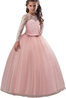 Beikoard Girls' Baby Dress Fashionable Wedding Prom Dresses Wedding Party Evening Dress Long Tail Dress Tutu Tulle Dress