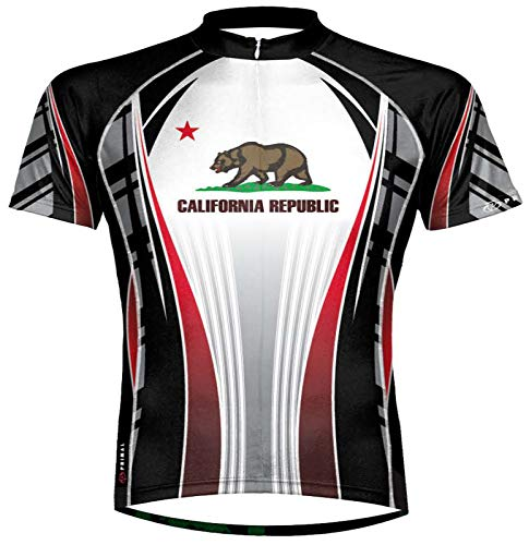Primal Wear California Republic Flag Cycling Jersey Men's XL Short Sleeve