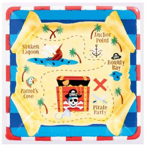 8 Assiettes en carton Sourire de pirate
