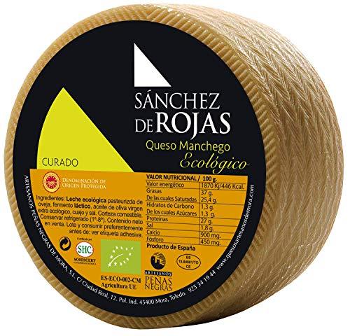Sánchez de Rojas   Queso Manchego Curado Ecológico   2kg   Queso de Oveja con Leche Pasteurizada   Denominación de Origen Protegida   Sabor Intenso   Quesos Gourmet  