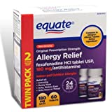 Equate - Allergy Relief - Fexofenadine 180...