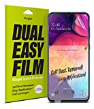 Ringke Dual Easy Film (2 Pack) Designed for Galaxy A50 Screen...