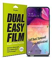 【Ringke】Galaxy A50 フィルム【2枚セット】保護フィルム スマホフィルム スクリーン保護フィルム Ringke 超薄 設置が簡単な保護フィルム 前面フルカバレッジ ソフトフィルム Dual Easy Full Coverage Galaxy A50 ケース 対応