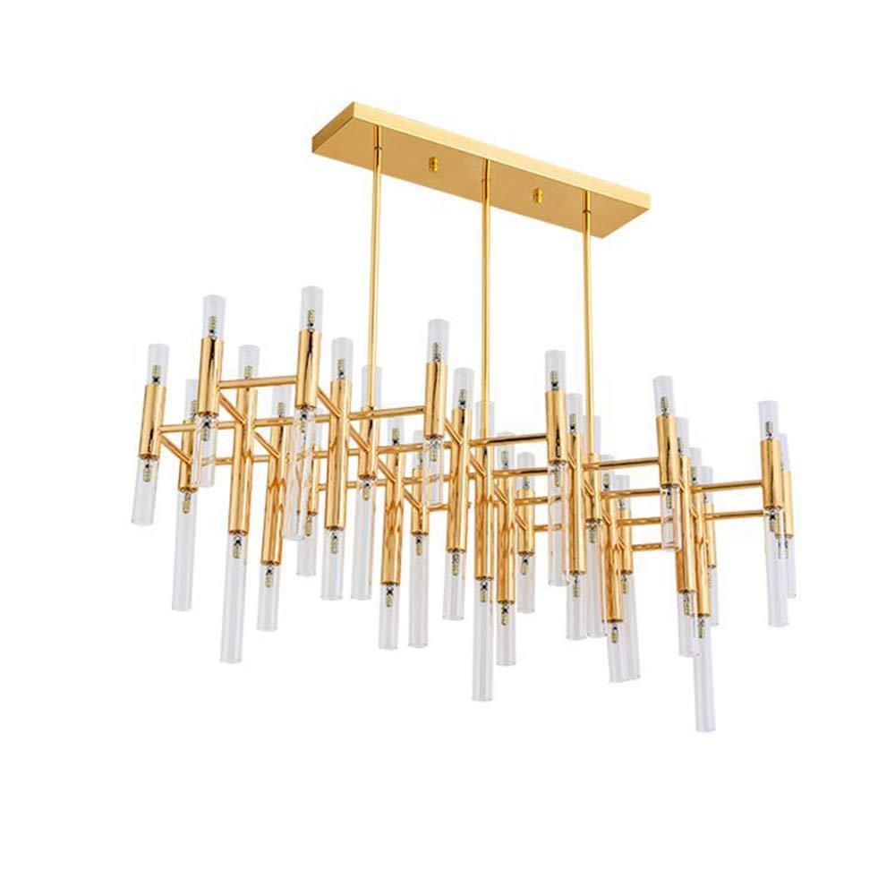 Post-Moderna de Oro 54 Jefes LED iluminación de la lámpara nórdica Hierro Accesorios Colgante de Cristal de la lámpara de la Sala de Estar del Restaurante del Dormitorio,Whitelight: Amazon.es: Hogar