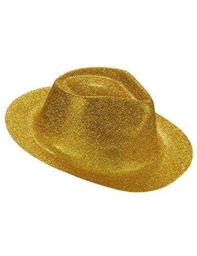 Chapeau pailletté or adulte - Taille Unique