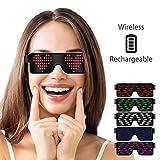 LumiSyne Drahtlose LED Brille Party Dekoration USB Wiederaufladbare 11 Dynamische Muster Leuchtende...