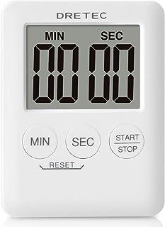 dretec(ドリテック) デジタルタイマー ポケッティ 薄型9mm コンパクト カウントアップ99分59秒 T-307WT(ホワイト)