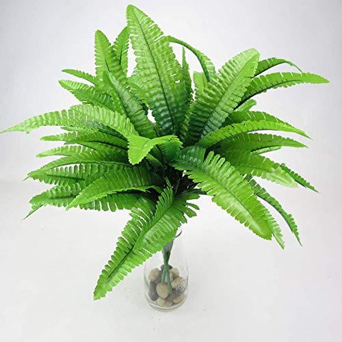 SparY Planta Artificial, Verde con Flores Boda Hogar Colgante de Pared Helecho Hierba Shop Persa Hojas Decorativo Simulación Fiesta Oficina Ramo - como en la Imagen Show, Type 1