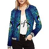 INTERESTPRINT Women's Sacred Geometry Symbol with All Seeing Eye Jacket Zipper Coat Outwear Sports Blouse XXL by INTERESTPRINT