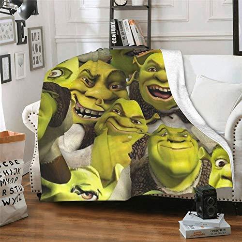 Rumpelstiltskin Puss in Boots Película de comedia Shrek 3 TV show aire acondicionado manta manta manta manta de verano transpirable sofá silla cubierta mantel impresión 3D 60 x 50 pulgadas