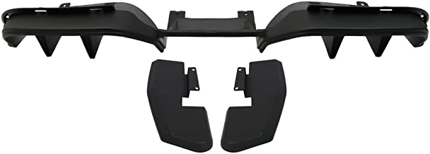 Rear Diffuser Compatible With 2015-2017 Ford Mustang PREMIUM PACKAGE ONLY - NOT FIT GT350 | R Style ABS Black Valance Chin Splitter by IKON MOTORSPORTS | 2016