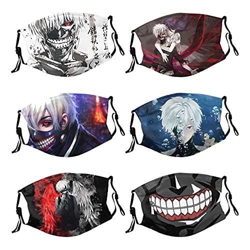 Baochengrui Tokyo Ghoul Anime 6 uds mascarilla...