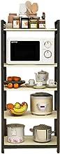 LSZ Estante de Cocina for el hogar/Estante múltiple montado en el Piso/Estante de Horno de microondas/Estante de Esquina Marcos para microondas (Color : Black, Size : 140cm)