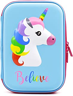 SKEIDO Cartoon Unicorn Pencil Case EVA Pen Pouch Stationery Box Anti-Shock For School Students Girls Teens Kids Stationary...