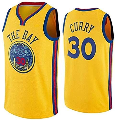 Zxwzzz NBA Golden State Warriors No.30 Stephen Curry Männer Trikots Mesh-Basketball Jersey Swingman Auflage Unisex Ärmel T-Shirt (Color : B, Size : Medium)