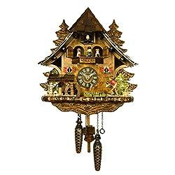 Adolf Herr Engstler Quartz Cuckoo Clock - The Successful Fisherman