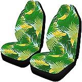 Zseeda Plátano con Hojas de Jungla Tropical Fundas para Asientos de automóvil Juego de 2 Protectores Accesorios