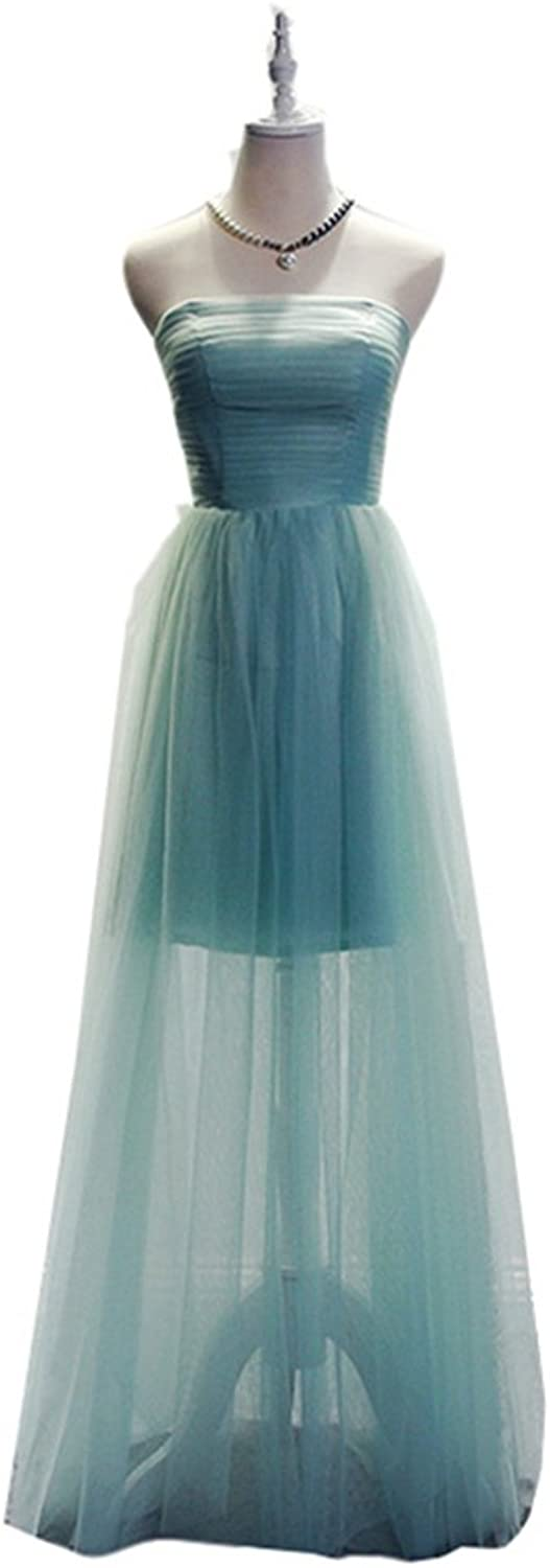 Emmani Women's Strapless Laceup Long Evening Gown Bridesmaid Dresses