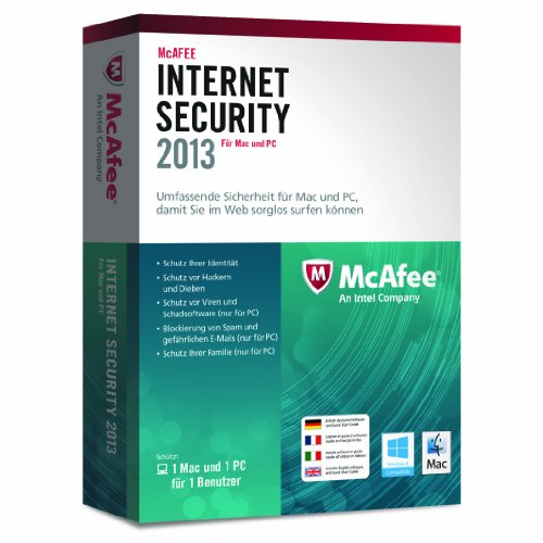 McAfee Dual Protection 2013 - 1 User (PC + MAC) [import allemand]